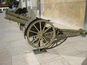 Canon de 75 M(montagne) modele 1919 Schneider - In Hellenic (Greek) War Museum, Athens,Greece