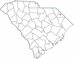 Location of Dillon in South Carolina