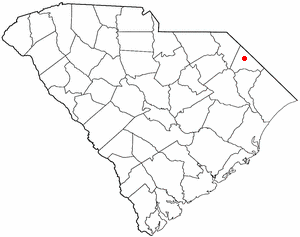 Dillon, South Carolina - Image: SC Map doton Dillon