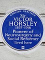SIR VICTOR HORSLEY 1857-1916 Pioneer of Neurosurgery and Social Reformer lived here.jpg