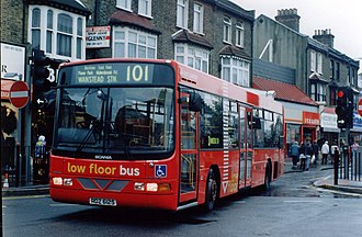 Scania N113 - London Transport Wright Pathfinder bodied Scania N113 on route 101 in October 1994