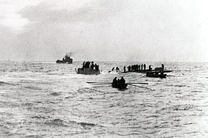 SM U-8 - Image: SM U 8 sinking after being scuttled on March 4 1915