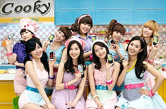 LG Corporation - LG's ad campaigns have sometimes utilized celebrities such as South Korean pop girl group Girls' Generation for their products, such as this for the  LG Cookie cell phone in 2010.