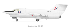 Saunders-Roe SR.177 - SR.177 with Hawker Siddeley Red Top missiles