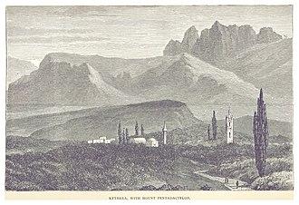 Kythrea - Image: STEVENSON(1880) p 154 KYTHREA, WITH MOUNT PENTADACTYLON