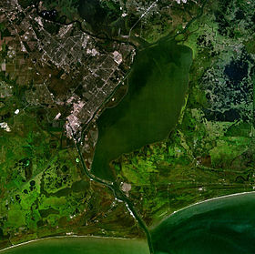 Vue satellite du Lac Sabine