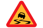Safety topic image Road sign slippery surface.png