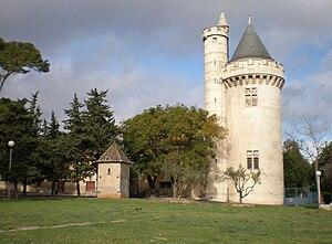 Béziers - Le domaine de Saint-Jean-d'Aureilhan, neo-Gothic style tower (19th century)