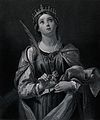 Saint Catherine. Line engraving by F. Knolle after Domenichi Wellcome V0031808.jpg