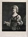 Saint Cecilia. Line engraving. Wellcome V0033438.jpg