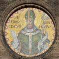 Saint Francis de Sales Oratory (St. Louis, Missouri) - St. Francis de Sales mosaic (perspective corrected).png