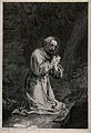Saint Francis of Assisi. Line engraving. Wellcome V0032044.jpg