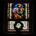 Saint Wendelin Church (Saint Henry, Ohio) - stained glass, nave, Saint Joseph with the Christ Child.jpg