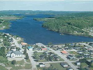 Sainte-Anne-du-Lac, Laurentides, Quebec - Sainte-Anne-du-Lac and Lake Tapani