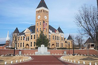 Benton, Arkansas - Saline County Courthouse, located in the heart of downtown Benton.