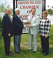 Sam Hoyt Receiving Award from Grand Island, NY Supervisors, 2000.jpg