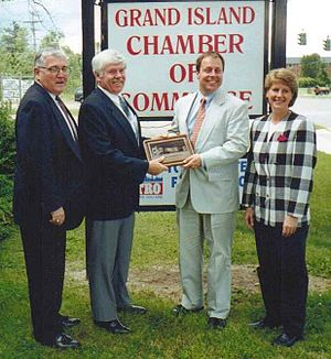 Sam Hoyt - Sam Hoyt Receiving Award from Grand Island, NY Supervisors, 2000