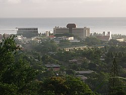 Early-October 2004 view of the Samoan government buildings in Apia