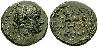 Samosata - O: laureate head of Hadrian