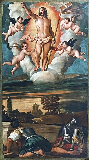 Francesco Vecellio -  Resurrection - Church San Salvador Venice