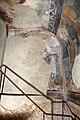 San lorenzo in insula, cripta di epifanio, affreschi di scuola benedettina, 824-842 ca., teoria di sei sante in costume bizantino, 01.jpg