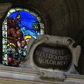 San salvatore al monte, vetrata con stimmate di san francesco, 1500-1510 ca. 2.JPG