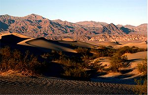 Death Valley National Park - Sand dunes in Death Valley National Park