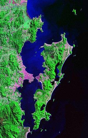 Santa Catarina Island - Satellite view of Ilha de Santa Catarina.