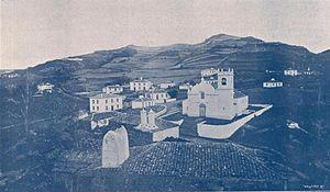 Santa Bárbara (Vila do Porto) - A vintage photograph of the valley of Santa Bárbara circa 1903, when there were less homes in the valley