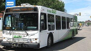 Saskatoon Transit System bus, one of the new m...