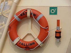 Saturn IMO 9315410 Lifebuoy 14 July 2012 Tallinn.JPG