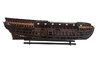 Scale model of a frigate under construction-MnM 27 CN 15-IMG 5913-white.jpg