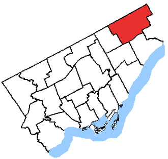 Scarborough—Rouge River - Scarborough—Rouge River in relation to the other Toronto ridings