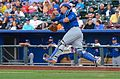 Schwarber with a jumping throw (19353763828).jpg