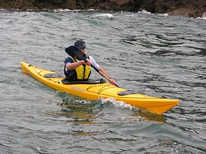 Sea kayak - A modern sea kayak off west Wales