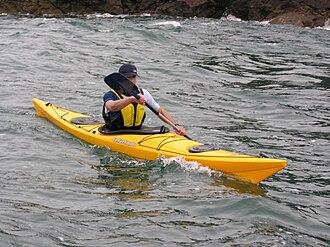 Sea kayak - A modern sea kayak off west Wales