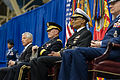 Seated from left, Secretary of Defense Chuck Hagel; U.S. Army Gen. Martin E. Dempsey, the chairman of the Joint Chiefs of Staff; Navy Adm. Cecil D. Haney, the incoming commander of U.S. Strategic Command 131115-D-KC128-425.jpg