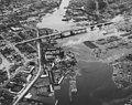 Seattle - Aerial of Ballard Bridge and Salmon Bay, 1950 (48365644026).jpg