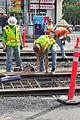 Seattle - laying trolley tracks on Broadway at Pine 19.jpg