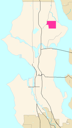 Map of Wedgwood's location in Seattle
