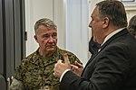 Secretary Pompeo and General McKenzie at CENTCOM (48085162957).jpg
