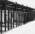 Security cages where Ezra Pound was held, Pisa, Italy, 1945.JPG