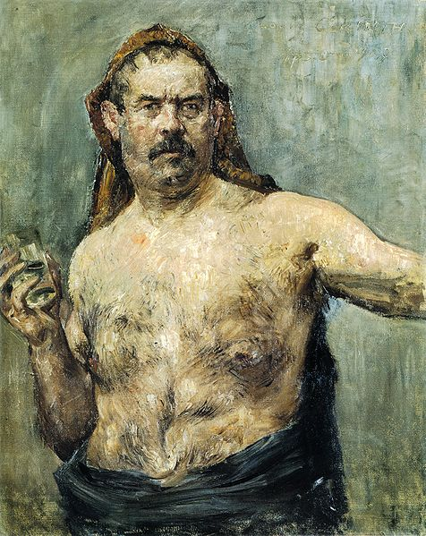 File:Self-portrait with Glass by Lovis Corinth.jpg