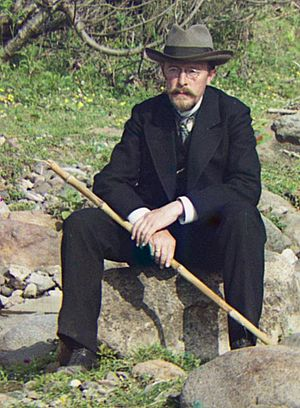 Sergey Prokudin-Gorsky - Sergey Prokudin-Gorsky in 1912