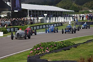 Goodwood Revival three-day road racing festival held each September at Goodwood Circuit