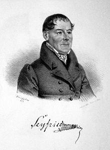 Ignaz von Seyfried, Lithographie von Joseph Kriehuber, 1829 (Quelle: Wikimedia)