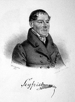 Ignaz von Seyfried. 1829 lithograph by Josef Kriehuber (Source: Wikimedia)