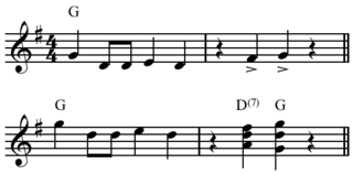 Shave and a Haircut Specific 7-note rhythm and melody