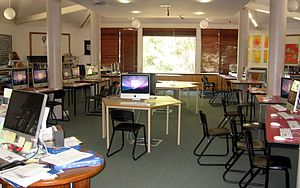 Waldorf education - The media center at the Shearwater Steiner School in Australia