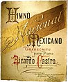 Sheet music for the Mexican National Anthem, published and sold in Mexico City.jpg